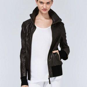 Mackage for aritzia Lauren leather jacket black
